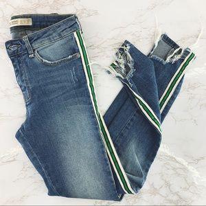 Zara Basic Sporty Skinny Jeans with Side Stripes
